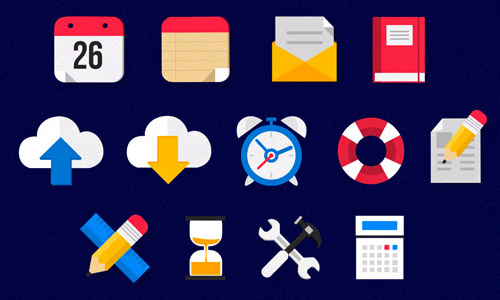 business icons animated