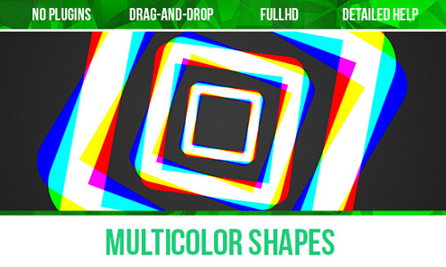 multi color shapes