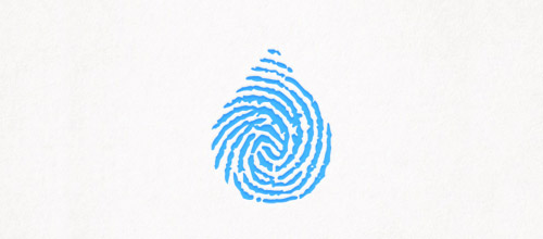 water fingerprint logo