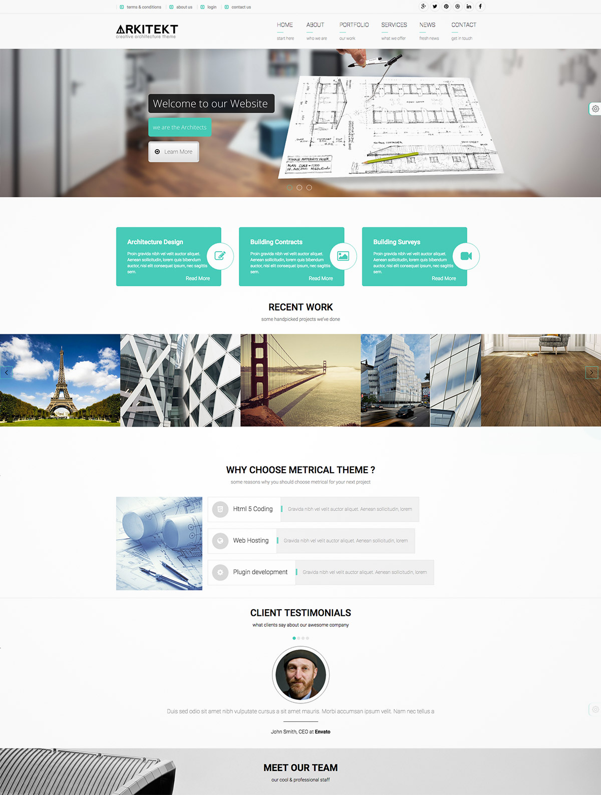 new wordpress template