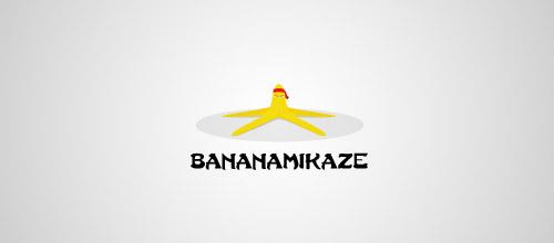 bananamikaze logo design