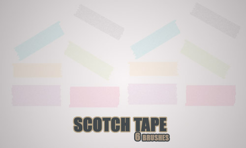 scotch tape brushes photoshop