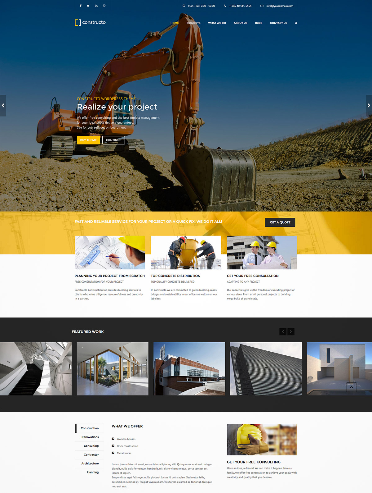 construction business theme