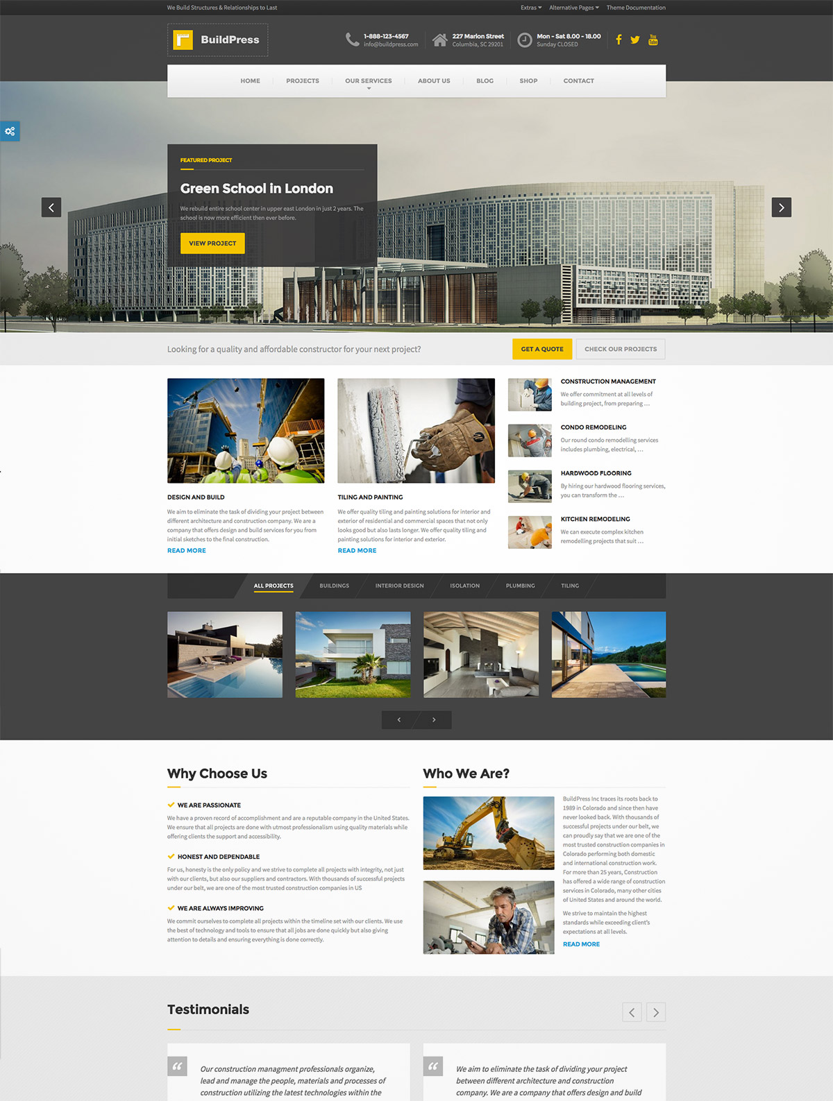 business construction template