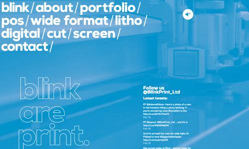 blink video web design