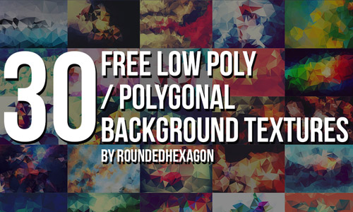 polygonal low poly set textures