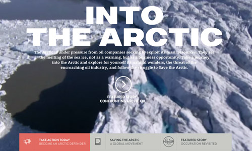 arctic video background website