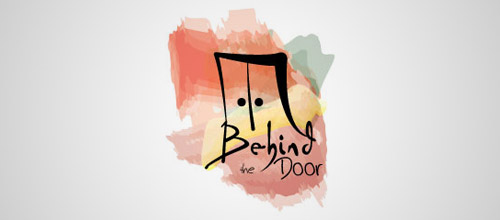 behind door logo