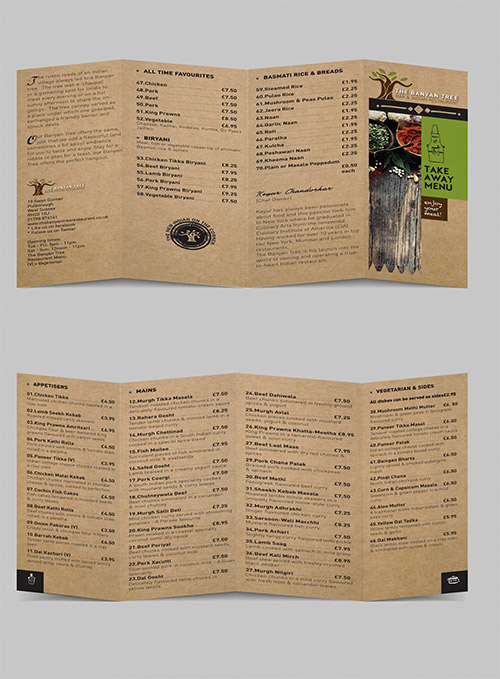 brown restaurant brochure