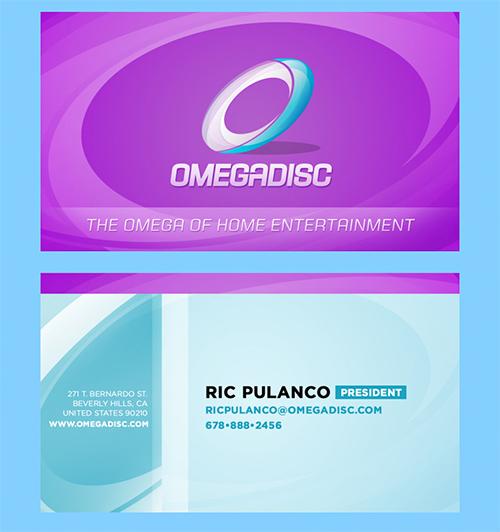 marketing violet business cards