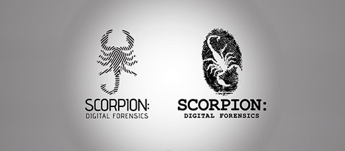 scorpion fingerprint logo