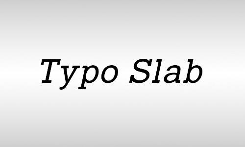 typo slab italic font