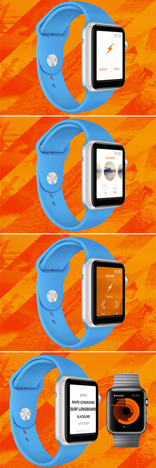 dude app design iwatch