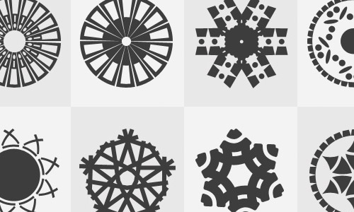 radial free custom shapes