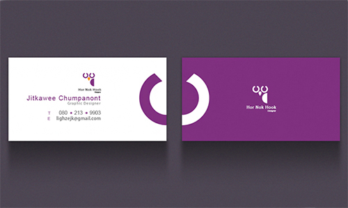 violet business card