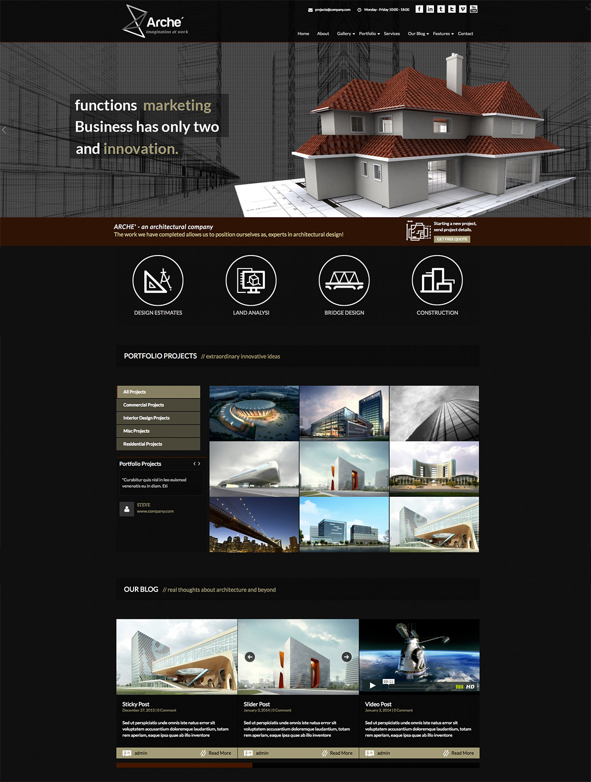 architects premium wordpress