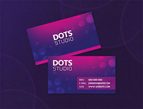 dots violet business card