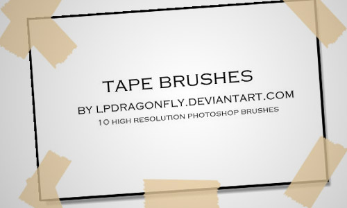photoshop tape brushes