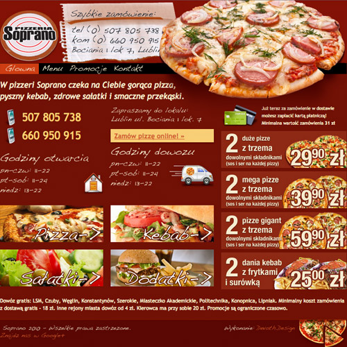 pizzeria soprano website