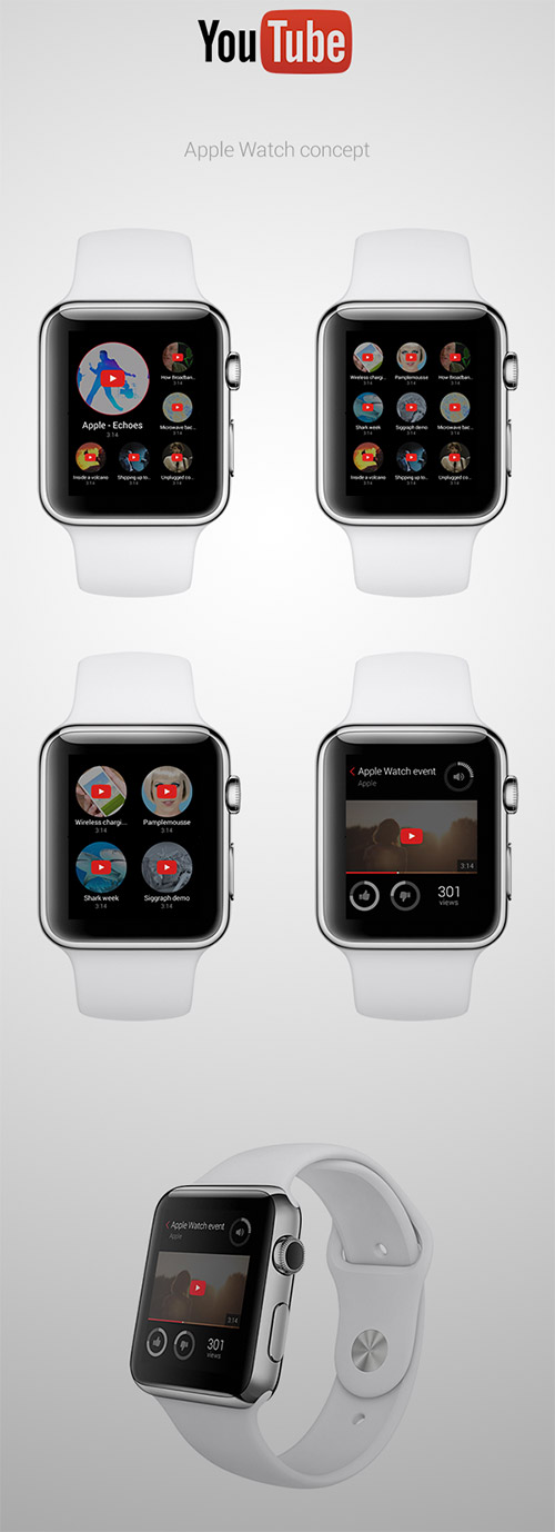 youtube apple watch design