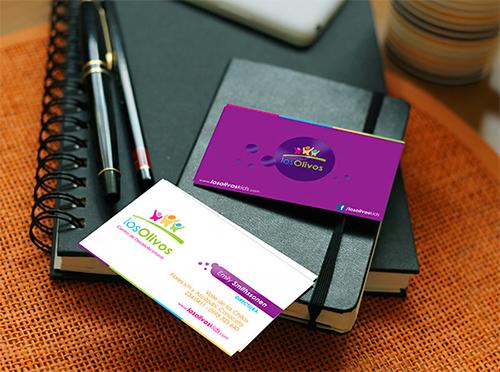 cool violet business card
