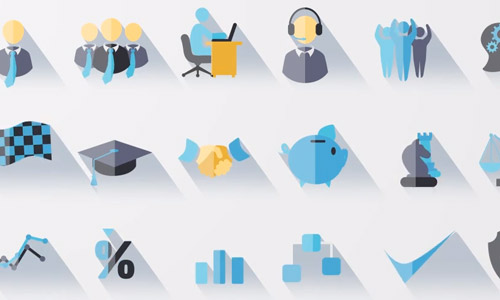 flat animated icon set