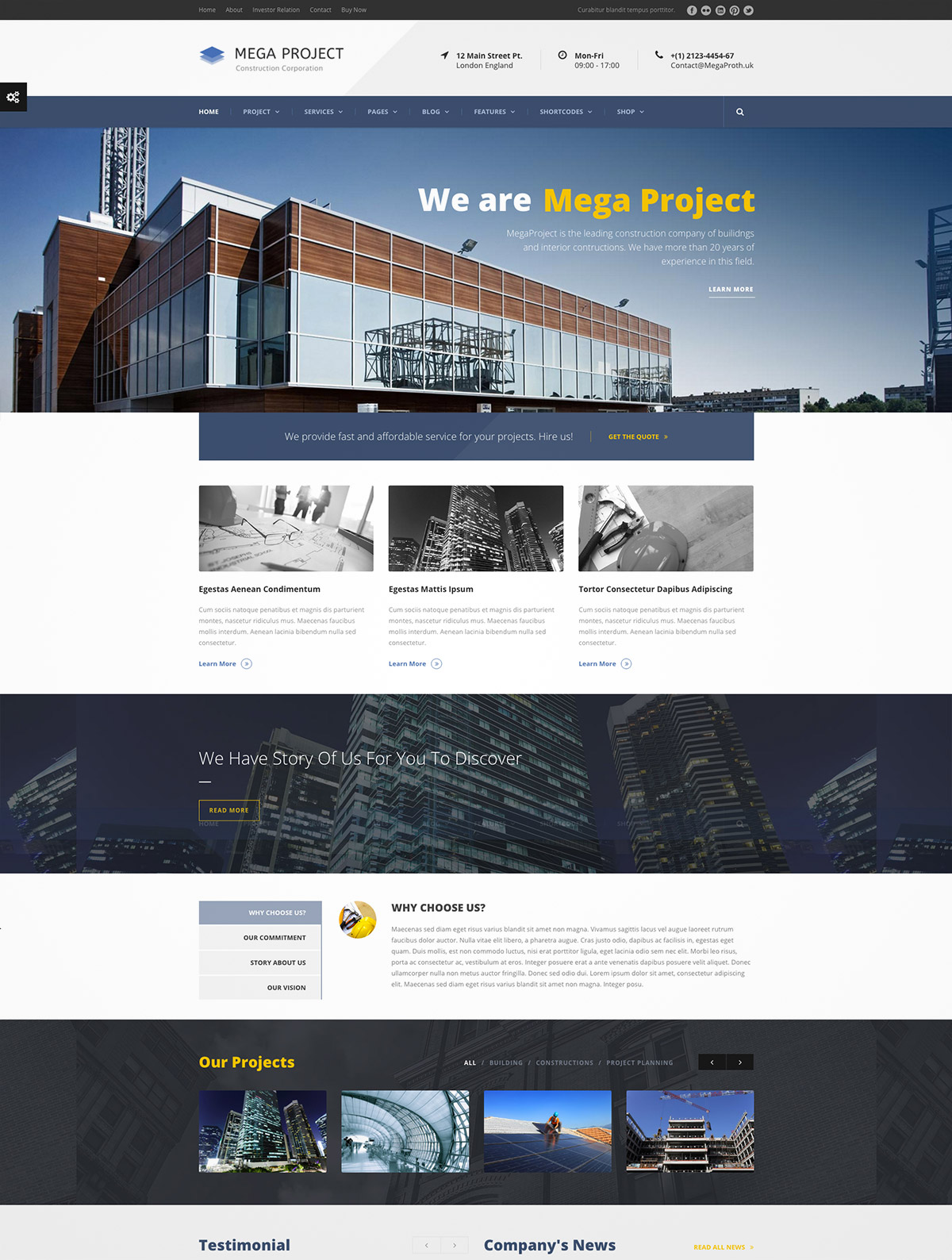 architecture premium wordpress