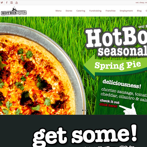 hotbox pizza website