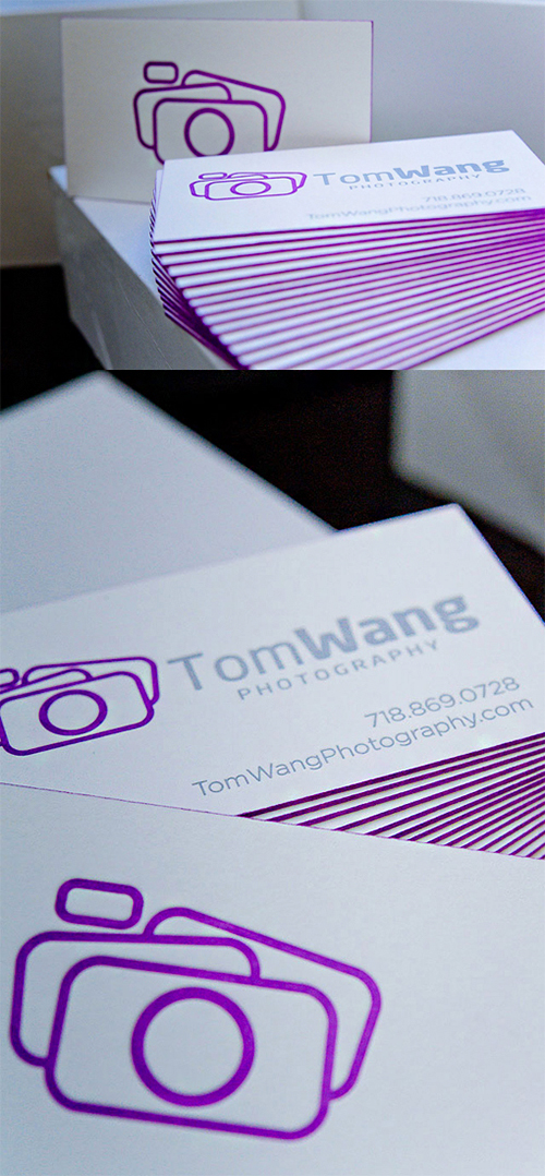 tom violet business card