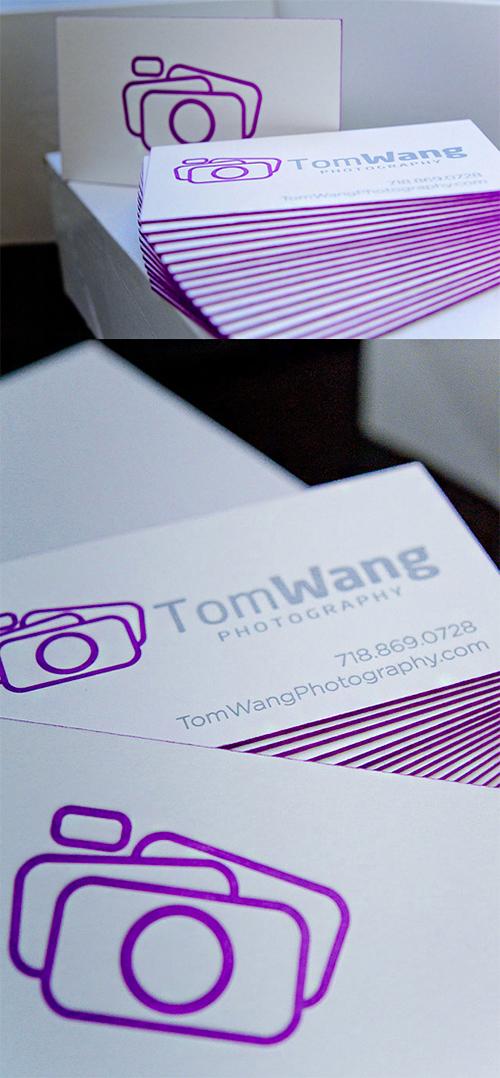 tom violet business card