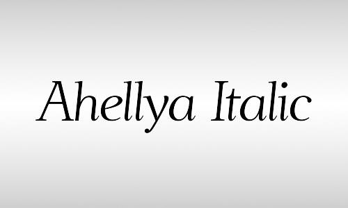 ahellya free italic font