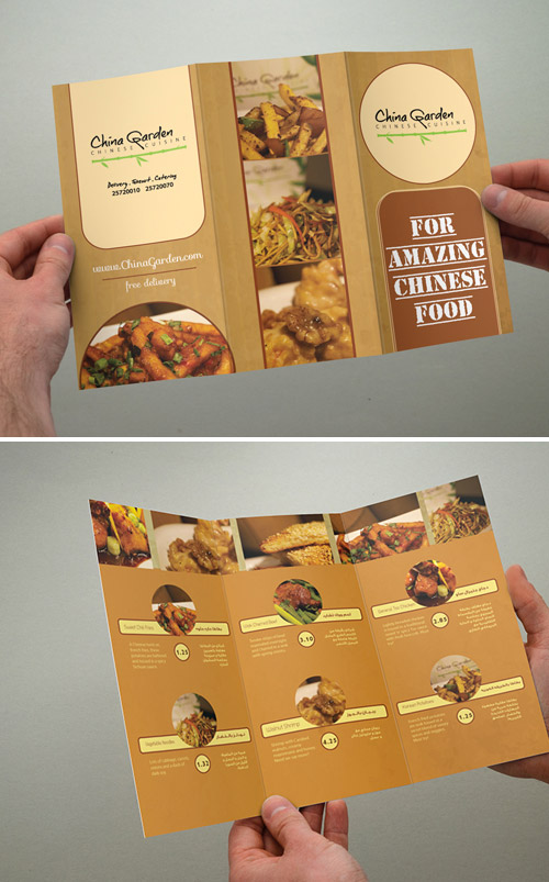 Inspired Restaurant Menu Brochure Designs You Must See  Naldz