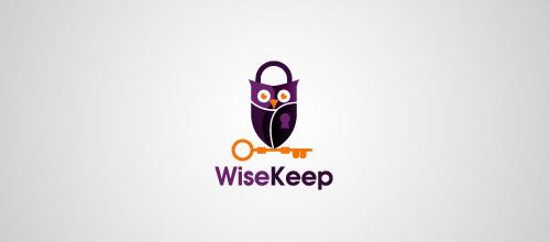 owl padlock logo