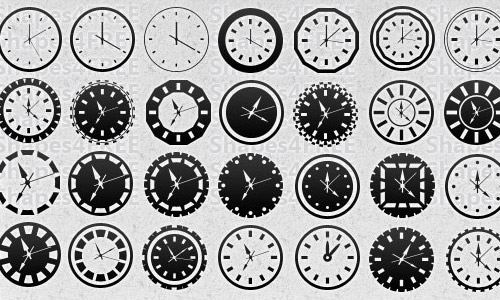 photoshop clock shapes