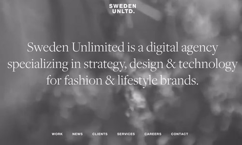 Sweden video website design