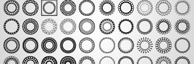 A Great Collation Of Circular Custom Shapes For Photoshop