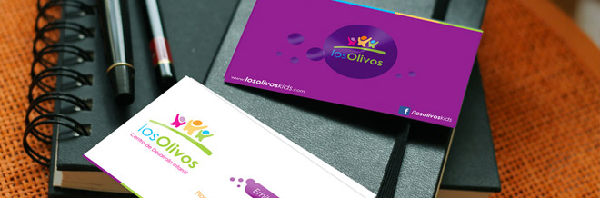 Luscious List of Violet Business Card Designs