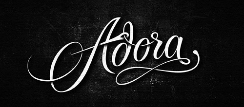 adora script logotype