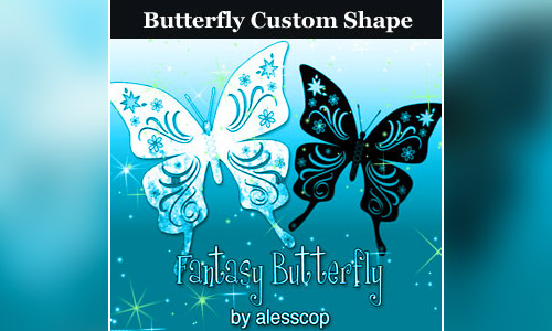 butterfly custom shape photoshop