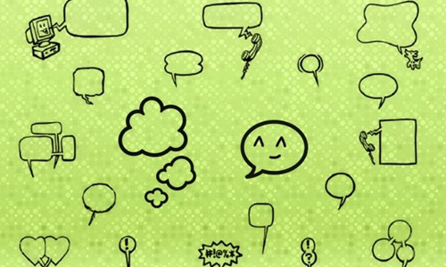 free speech bubbles brushes