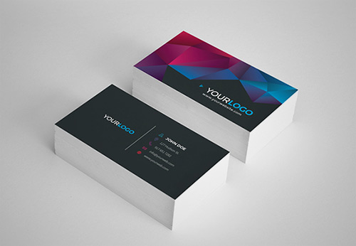 low poly business card