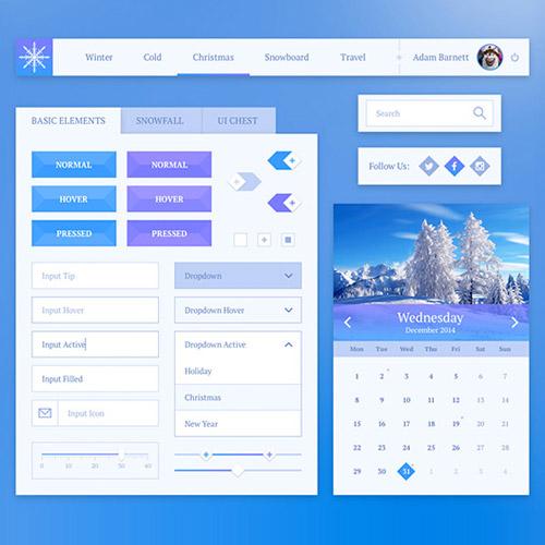 free snowflake UI kit