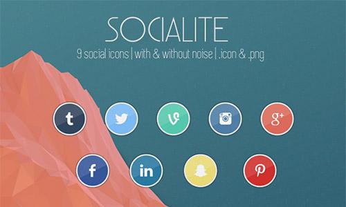 social free circle icons