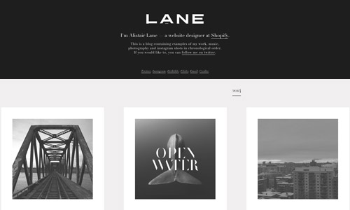 Alistair web design