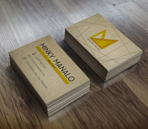 architecture branding card