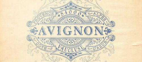 Avignon vintage logo