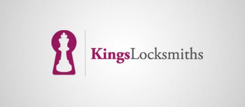 locksmith keyhole logo