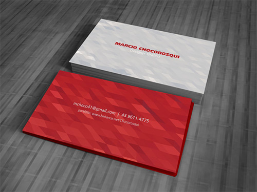 lowpoly business card