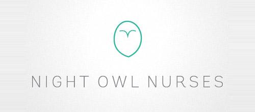 owl thin line logo