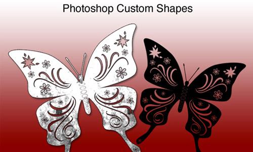 butterfly csh photsohop